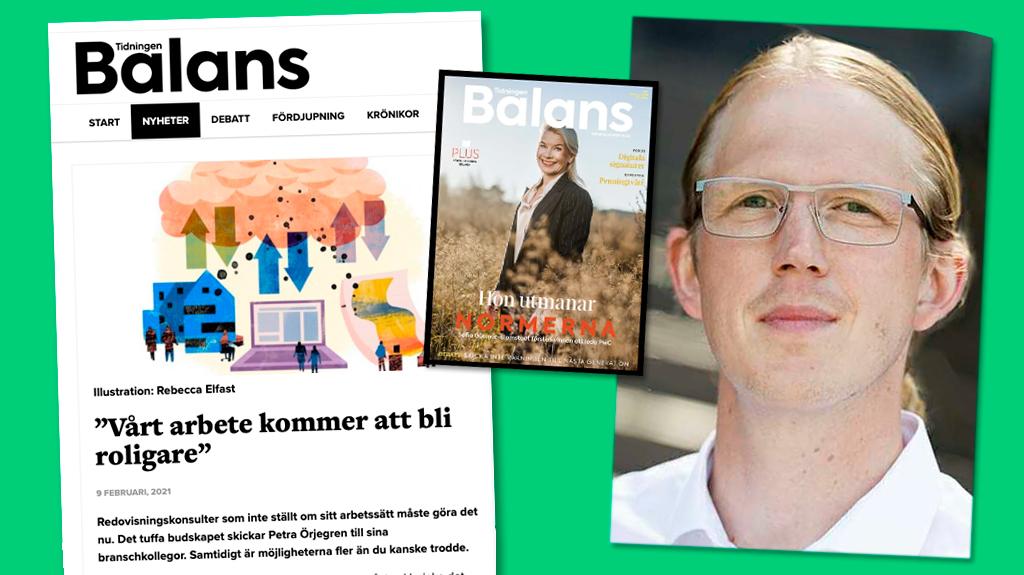 Bild på artikel ur tidningen Balans